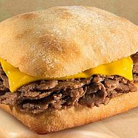 Ciabatta Nice 200gr beef With cheddar cheese and fresh tomato With dressing