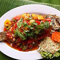 Snapper with sweet and sour