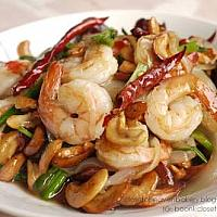 Fried shrimp with cashew nuts