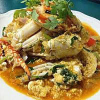 Fried crab with Indian curry