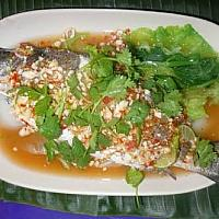Streamed snapper with lemon