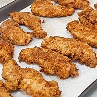 Chicken Goujons - also known as breaded chicken strips