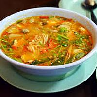 Tom Yum Spicy and Sour Thai Soup (prawns or fish)
