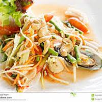 Papaya Salad with Seafood