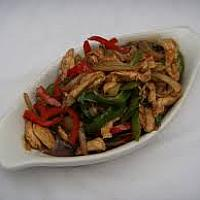 Stir Fried Garlic and Peppers Phad Kratiem from the Land