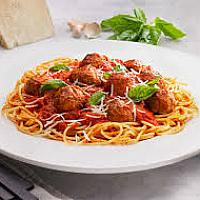 Spaghetti with Beef Meat Balls