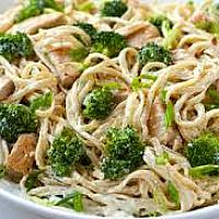 Spaghetti with Chicken and Brocolli