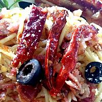 Spaghetti Dried Chilli Bacon