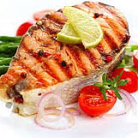 Steak salmon