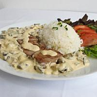 Pork Tenderloin with Mushroom cream sauce