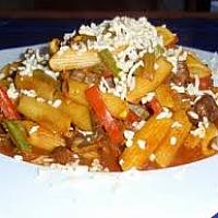 Vegetables with tomato sauce