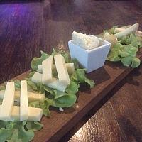 Mixed Cheese board served with homemade bread