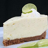 Lime & coconut cheesecake