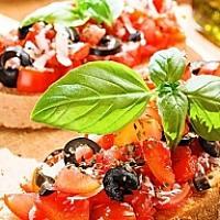 Bruschetta with olive