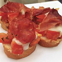 Bruschetta Parma ham