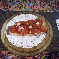 Bruschetta with salami