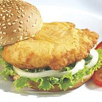 Fish burger with Lettuce,Tomato,Marinated onion, Mayo and French fries