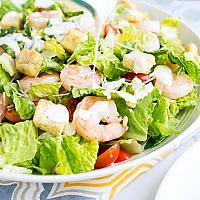 Prawn ceasar salad