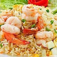 fried rice with prawn/ ข้าวผัดกุ้ง