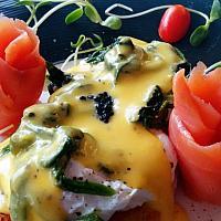 Smoked Atlantic Salmon & sauteed Spinach