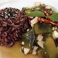 Stir fried Eggplant on rice
