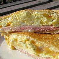 Grilled ham and egg Sandwich