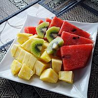 Fresh fruits plate