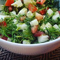 Arabian style salad