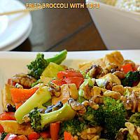Fried Broccoli with Tofu