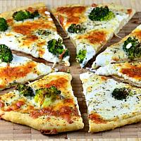 Broccoli and cheese Pizza