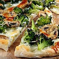 Broccoli and Mushroom Pizza