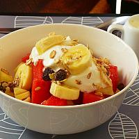 Continetal Breakfast Fruit with Muesli coffee or tea.