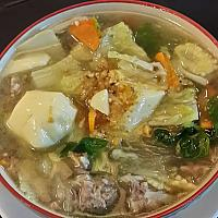 Geang Jued Woon sen ( Clear Soup with Glass noodle minced pork / vegetables )