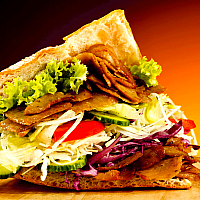 Beef Kebab in Pita Bread (Döner)
