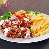 Chicken plate - french fries