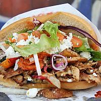 chicken kebab in pita bread Xl