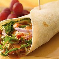 chicken kebab in wrap (shawarma)