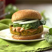Indian Curry Cheese Chicken Burger