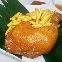 Chicken Leg with French Fries or Rice