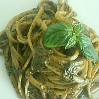 LINGUINE WITH BASIL PESTO