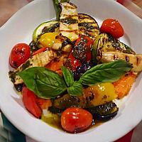 Grilled Vegetable with Pesto Sauce