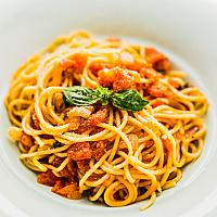Pasta with home made tomato sauce