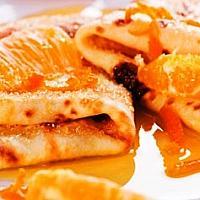 Crepes with orange
