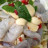 Raw prawn with herbal sauce / กุ้งแช่นำปลา