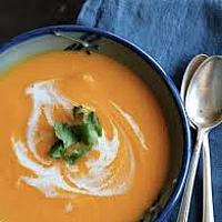 Carrot Cream Soup with coconut milk