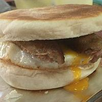 sausage and egg muffin