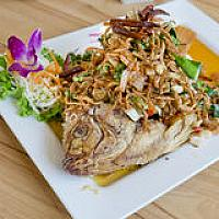 Fried Snapper With Thai Herbs