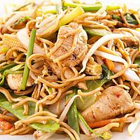 Fried Yellow Noodle With Chicken