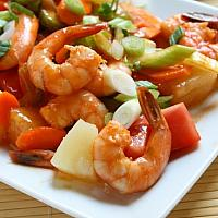 Sweet And Sour Shrim With Rice