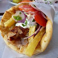 12. Wrap Gyros (kebab) chicken